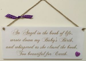 Angel Book of Life Large Plaque